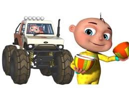 babies driving monster cars learn fruits kids