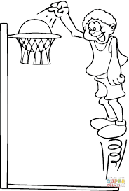 playing basketball coloring page free printable coloring pages