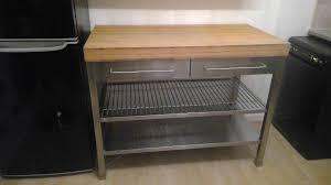 stainless steel kitchen island ikea ikea rimforsa kitchen island work bench stainless steel wood
