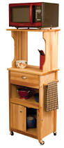 kitchen microwave stand this wood kitchen microwave stand has