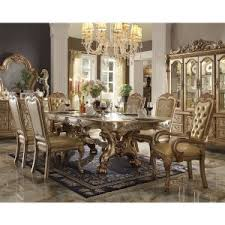 gold dining table set gold brass dining table sets hayneedle