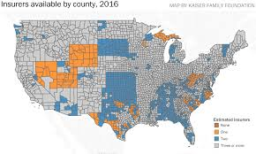 Red States Blue States Map by Obamacare Exchanges Are Shedding Insurer Options In Lots Of Close