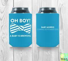 baby shower koozies personalized and custom baby shower koozies by mintandlemon