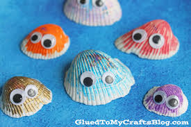 simple seashell friends kid craft glued to my crafts