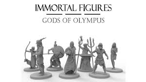 immortal figures gods of olympus tabletop gaming miniatures by