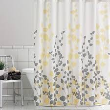 Gray Shower Curtains Fabric Yellow Shower Curtain Resplendent And Tantalizing Home Design