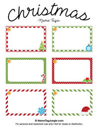 printable name place cards free printable christmas name tags the template can also be used