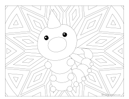 013 weedle pokemon coloring page windingpathsart com