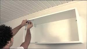 fixer meuble haut cuisine placo fixation de meuble haut de cuisine plaque de support acier zinguac