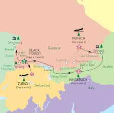 Black Forest Germany Map by Alpine Christmas Markets Guided Tour Europe Tours Grand