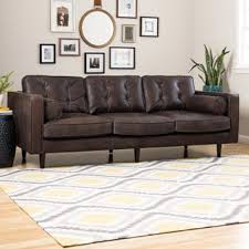 Peyton Leather Sofa Sax Oxford Brown Leather Sofa Free Shipping Today Overstock