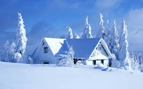 landscape house white winter landscape house covered with snow