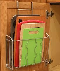 kitchen cabinet door storage racks simplehouseware the cabinet door organizer holder silver