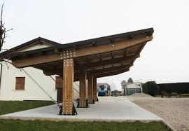 tettoia auto legno possente tettoia in legno per auto a tre posti modello autocover
