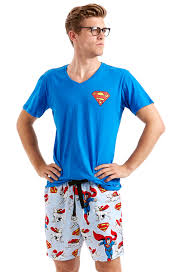mens superman pajamas family clothes