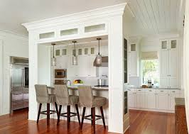 White Hut Kitchen by Island That Could Double As Support For Load Bearing Wall Perhaps