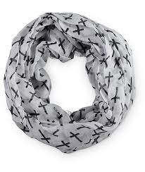 d y cross print infinity scarf zumiez