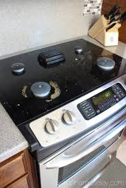 stove top how to easily clean a stove top without chemicals