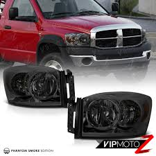2006 2008 dodge ram 1500 2500 3500 smoke front bumper headlights