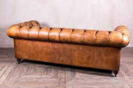 Rustic Leather Sofa by Tan Leather Chesterfield Sofa Peppermill Interiors