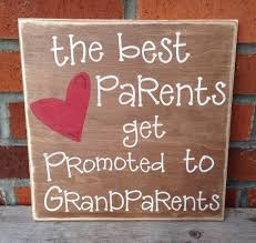 grandparent plaques wood sign rustic the best parents get promoted to grandparents