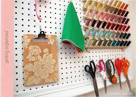 crafted spaces diy pegboard wall organizer