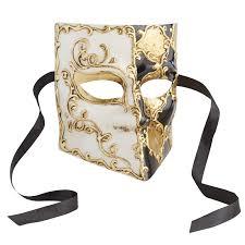 masquerade masks black gold bauta italian masquerade mask pier 1 imports