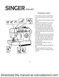how to thread the singer 4830 sewing machine free threading guide