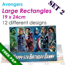marvel cake toppers marvel s edible photos for birthday cake decorations and