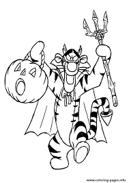 winnie pooh friend tiger disney halloween coloring pages printable