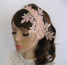 lace fascinator bridal fascinator beaded weddings hair headband in
