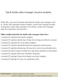 top 8 inside sales manager resume samples 1 638 jpg cb u003d1427980182