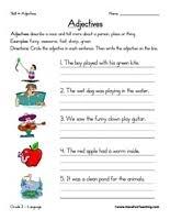 adjective worksheets 1st grade free worksheets library download
