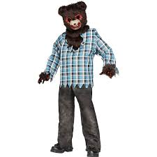 amazon com scary teddy bear child costume clothing