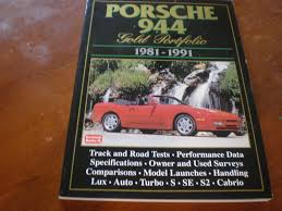 porsche 944 road test porsche 944 gold portfolio road test book 1981 1991 for sale