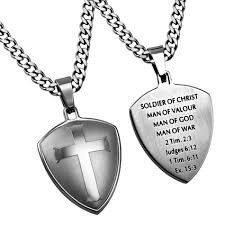 man necklace steel images Silver r2 shield cross man of god on chain necklace steel jewelry jpg