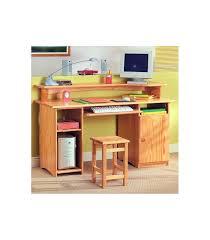 bureau ordinateur bois bureau informatique en bois très pratique pour travailler