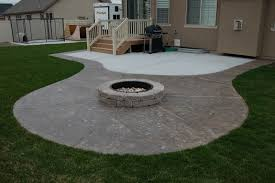 Cement Designs Patio Creative Of Concrete Patio Ideas With Pit Best Sted Cement