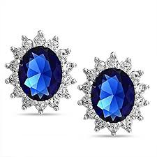 royal blue earrings blue earrings