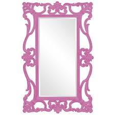 ornament designer mirror in pink hre 110hp accent mirrors