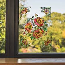 buy color your own stained glass window clings at s s worldwide