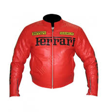 ferrari motorcycle vintage red leather motorcycle jacket