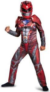 red ranger power rangers movie fancy dress up halloween deluxe