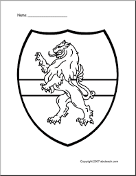 medieval classroom theme 1 coloring medieval shield lion