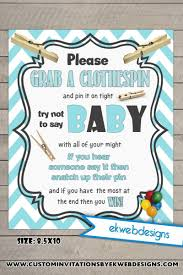 clothespin baby shower baby shower clothespin baby shower