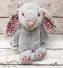 personalized easter bunny personalized easter bunny grey floral thetinycloset