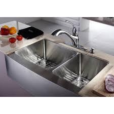 Kraus KHF  Inch Farmhouse Apron  Double Bowl  Gauge - Farmhouse double bowl kitchen sink