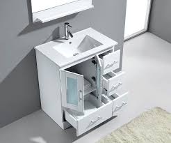 Bathroom Vanities 30 Virtu Usa Zola 30 Single Bathroom Vanity Cabinet Set In White