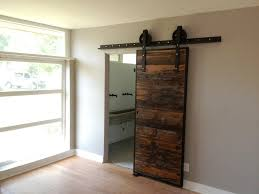 Modern Sliding Barn Door Hardware by Modern Sliding Barn Door For Bathroom Simple Elegant Sliding