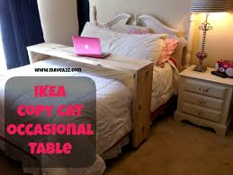 rolling table over bed ikea copy cat homemade occasional table tutorial
